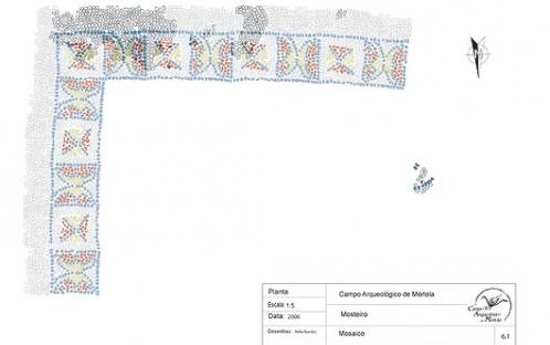 Mosaico - Escavação Mosteiro